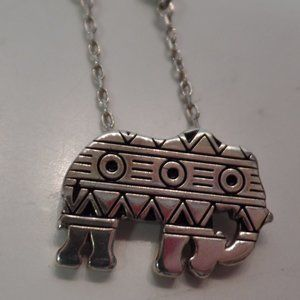 Brighton Africa Stories Necklace Silver BNWT Eleph